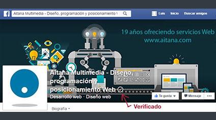 Aitana - Hemos actualizado nuestra página de empresa de Facebook
